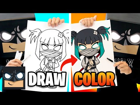 How To Draw Charlotte | Fortnite Season 8