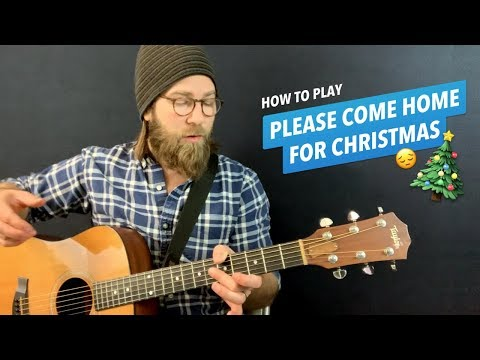 🎸Please Come Home for Christmas • Guitar lesson w/ chords & lyrics (Charles Brown / The Eagles)