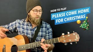 Download lagu 🎸Please Come Home for Christmas • Guitar lesson w/ chords & lyrics (Charles Brown / The Eagles)