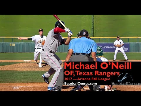 Michael O'Neill, OF, Texas Rangers — 2017 Arizona Fall League