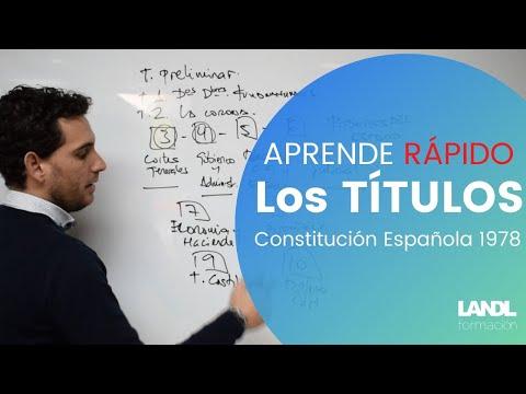 ¡¡Aprende RÁPIDO los títulos de la Constitución Española!!