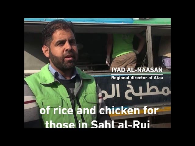 تقرير Middle East Eye عن مشروع مطبخ عطاء المتنقل بريف إدلب