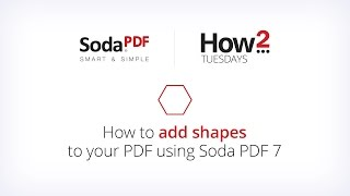 How to Add Shapes to Your Document Using Soda PDF