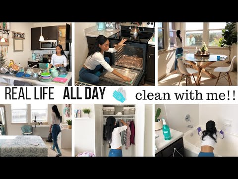 ALL DAY CLEAN WITH ME // NEW CLEANING MOTIVATION // SAHM CLEANING ROUTINE // Jessica Tull cleaning