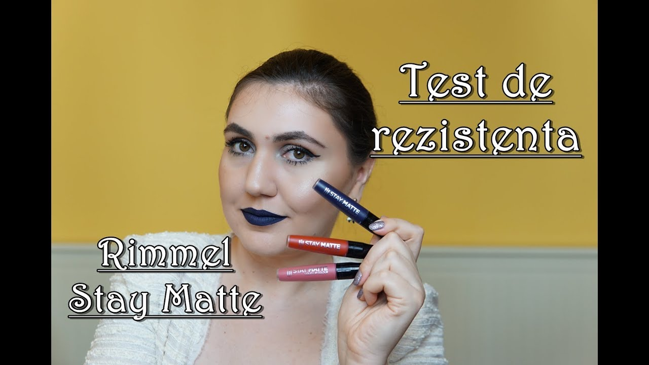 Rimmel London Stay Matte Liquid Lipstick Test De Rezistenta