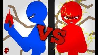 Red VS Blue - Epic Stickmen fighting