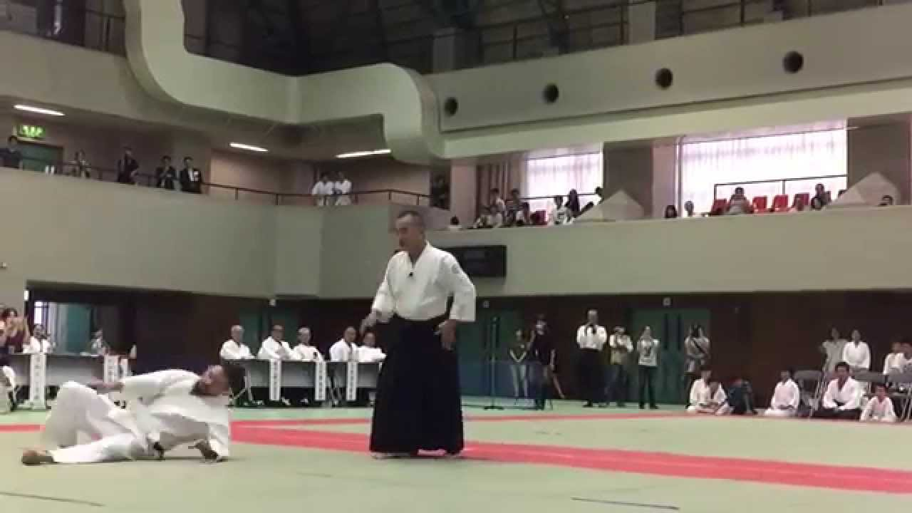 Chida Sensei at the 8th Renshinkai demonstration 2015
