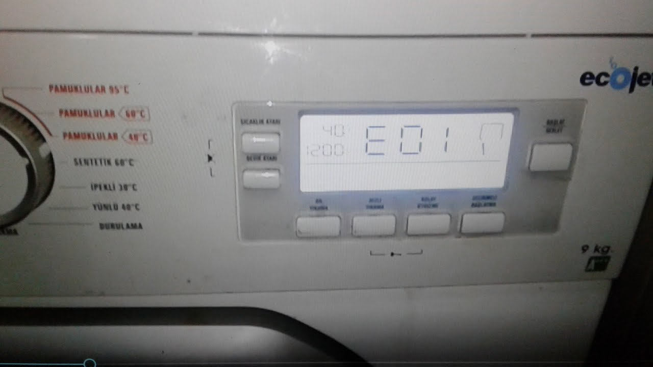Download رمز E01 في غسالة (REGAL(VESTEL مع تصليح