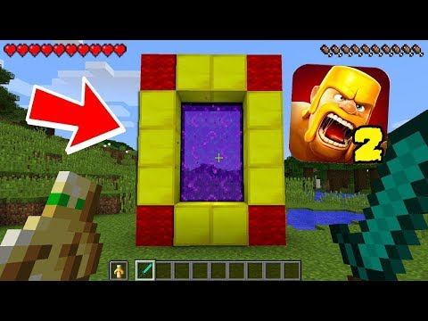 HOW TO MAKE A PORTAL TO THE CLASH OF CLANS DIMENSION - MINECRAFT CLASH OF CLANS