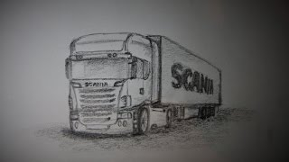 How to draw a Scania V8
