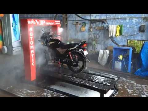Automatic bike wash...!!!