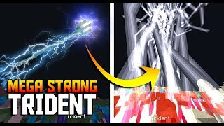 LIGHTNING TRIDENT Tutorial with Command Blocks in Minecraft (Anti Water Trident)