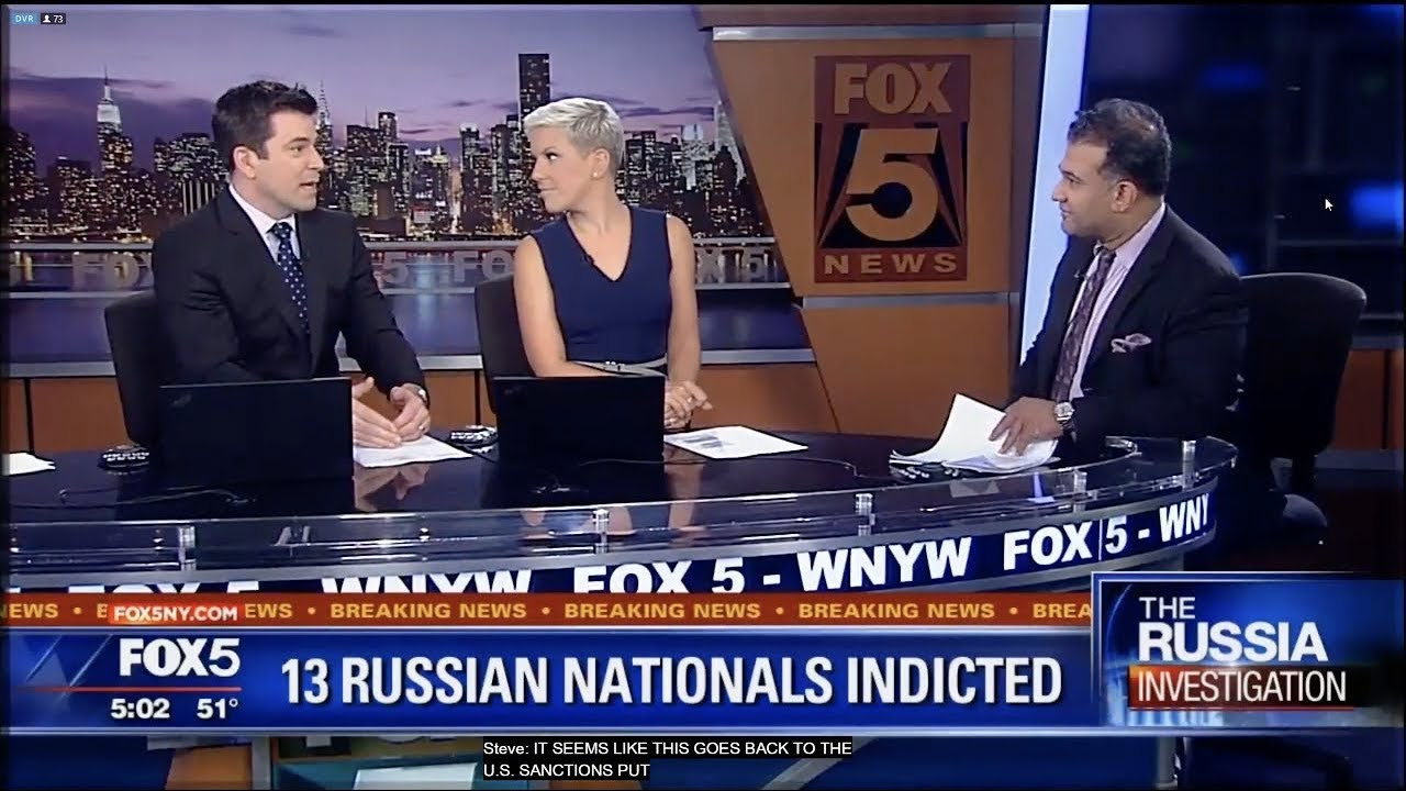 Vinoo Varghese on Fox 5 Providing Insight on Mueller's Russian Indictments