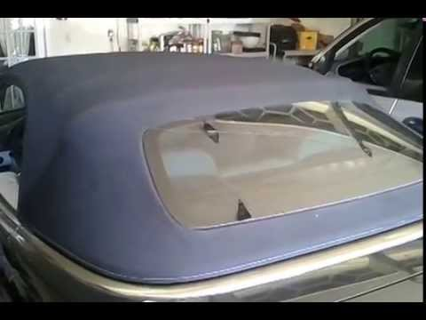 How to manually open convertible Mercedes CLK Soft Top - YouTube