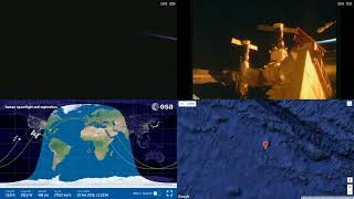 Sunrise Over North America - ISS Space Station Earth View LIVE NASA/ESA Cameras And Map - 95