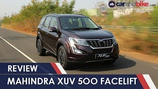 2018 Mahindra XUV500 Facelift Review | NDTV carandbike