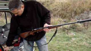 ".22 Rifle CZ-513""Farmer"" with a suppressor"