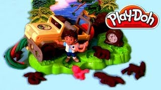 Play Doh Diego Rainforest Road Rescue Mission Nickelodeon Show Go Diego Go! Toys Review