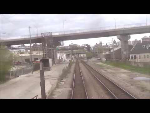 REAR VIEW - Amtrak's Empire Builder - Entering & Departing Milwaukee