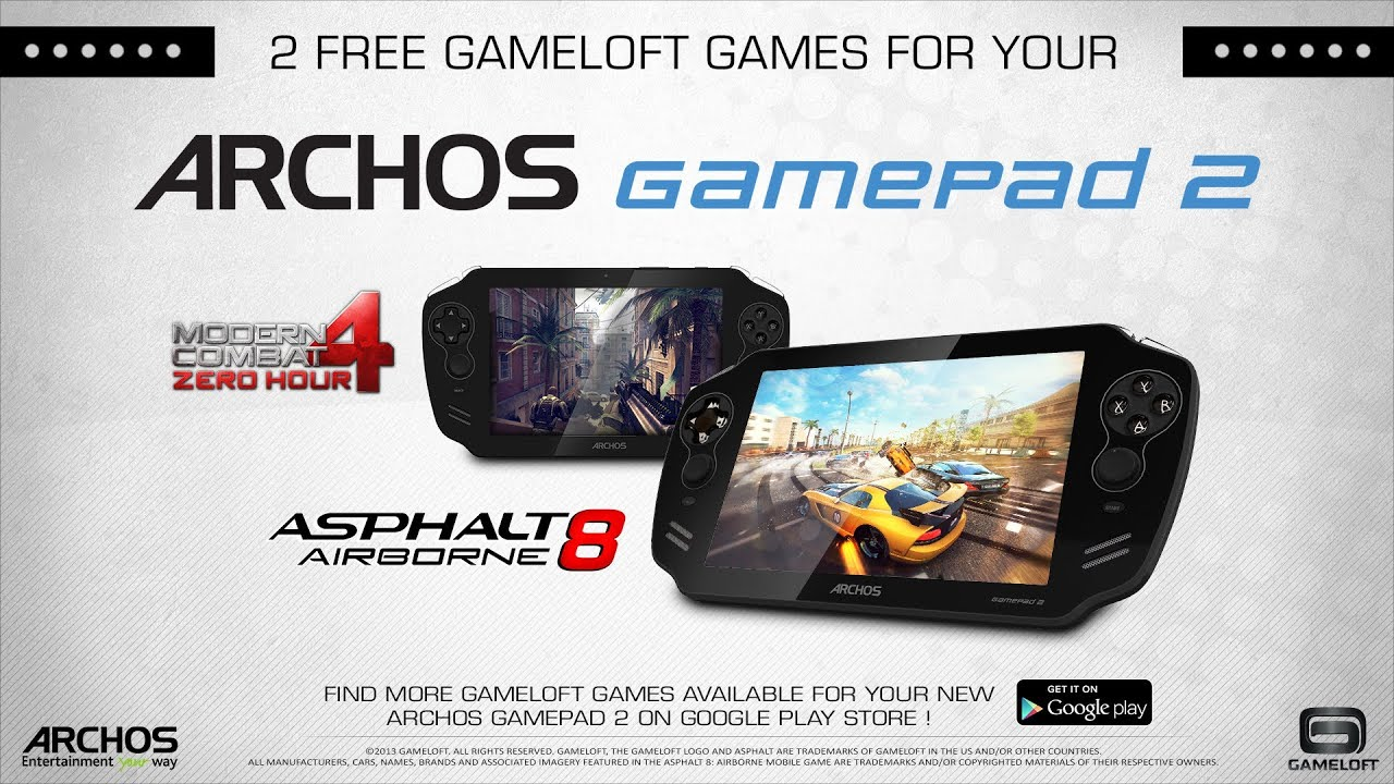 2 FULL GAMES for FREE with the ARCHOS GamePad 2