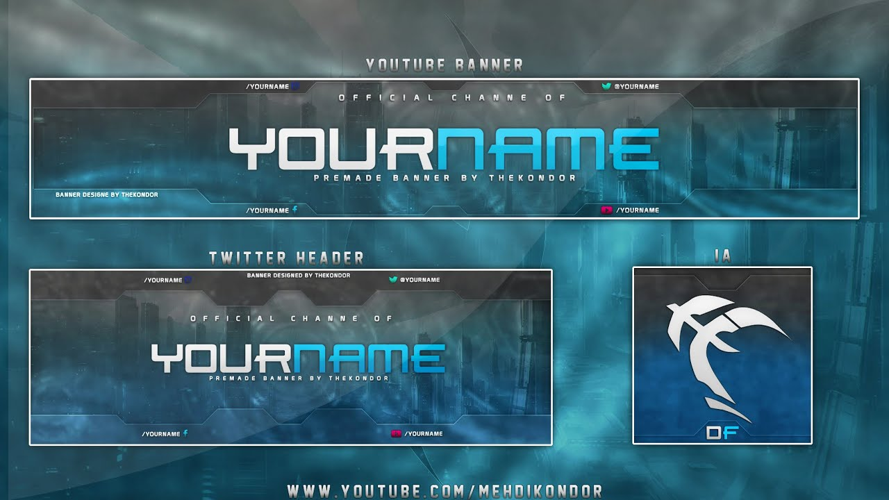 Free Banner Twitter Header Psd Free Gfx Youtube