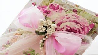 Decoupage Books with Fabric Shabby Chic – Decoupage em livros com tecido