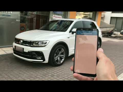 Remote Start, windows, side mirrors, port baggage control @ VW Tiguan R-Line 2017