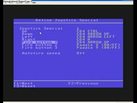 Commodore 64 emulator  How to control?