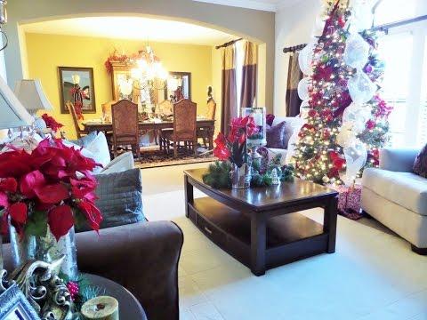 Decorating For Christmas: Christmas Living Room Tour + Ideas