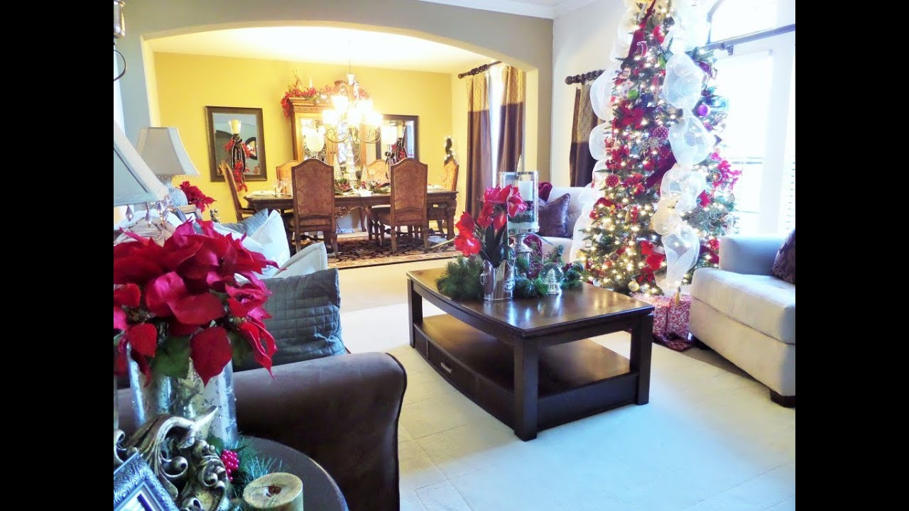 decorating living room for christmas.  Decorating For Christmas Living Room Tour Ideas YouTube