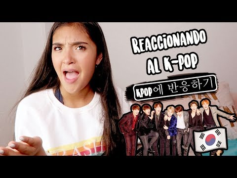 REACCIONANDO AL K-POP XIME PONCH BTS Super Junior Wanna One Black Pink Kim Samuel V235