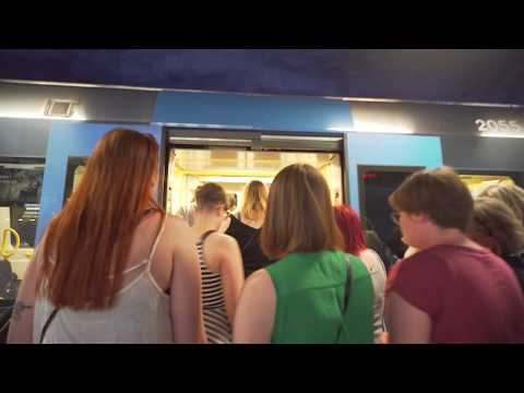 Sweden, Stockholm, subway ride from Central Station to Solna Centrum, 9X escalator