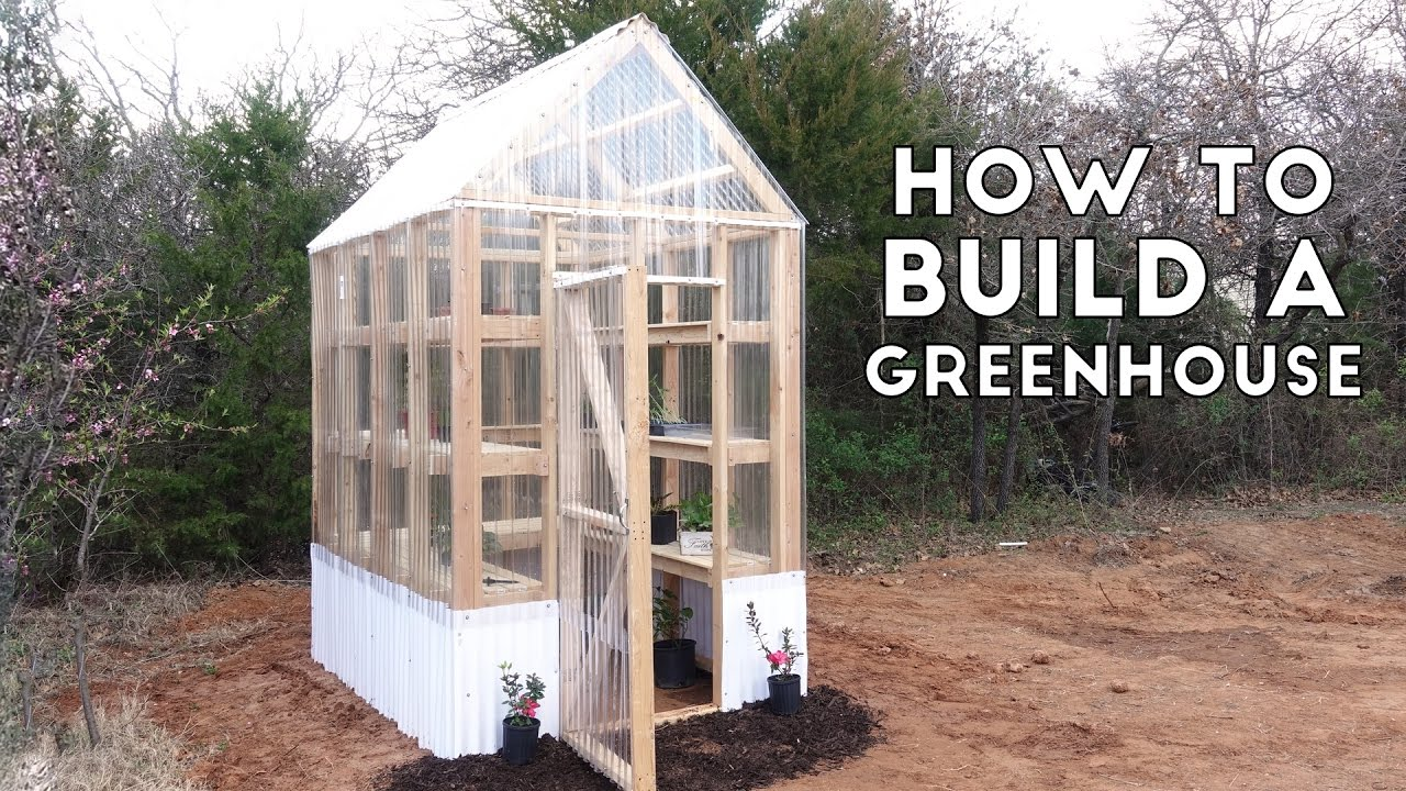 How to build a simple sturdy greenhouse from 2x4 39 s for How to make house green