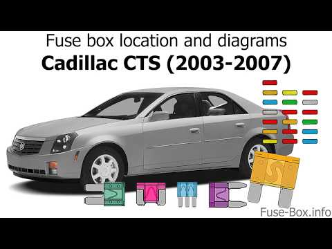 [DIAGRAM_5FD]  Fuse box location and diagrams: Cadillac CTS (2003-2007) - YouTube | 2007 Cts Fuse Box |  | YouTube