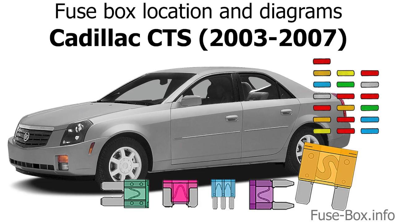 fuse box location and diagrams cadillac cts 2003 2007 youtubefuse box location and diagrams [ 1280 x 720 Pixel ]