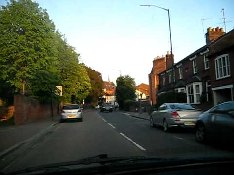 Driving into St Albans, Hertfordshire