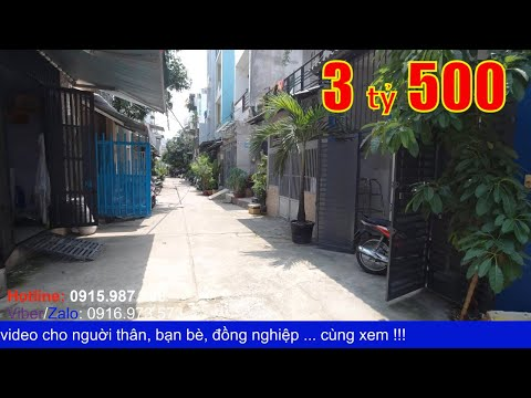 Video nhà bán quận Bình Tân hẻm xe hơi. Nhà 1 lầu 4x10m hẻm 276 Mã Lò