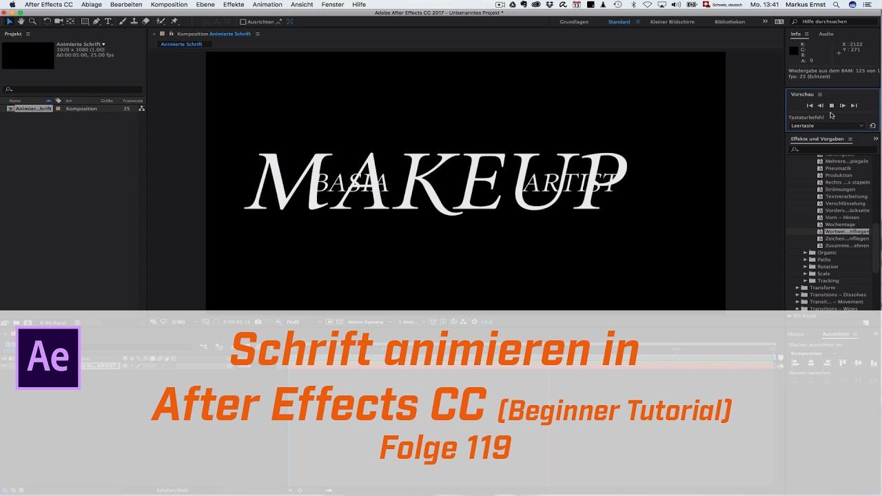 Schön After Effects Vorlagen Tutorial Ideen ...