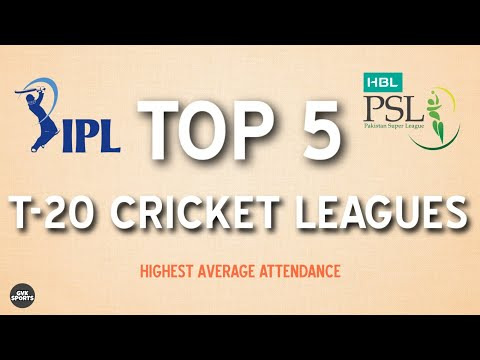 TOP 5 Most Attended Cricket Leagues in the World