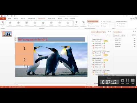 Trò chơi trúc xanh Powerpoint 2007 2010 2013
