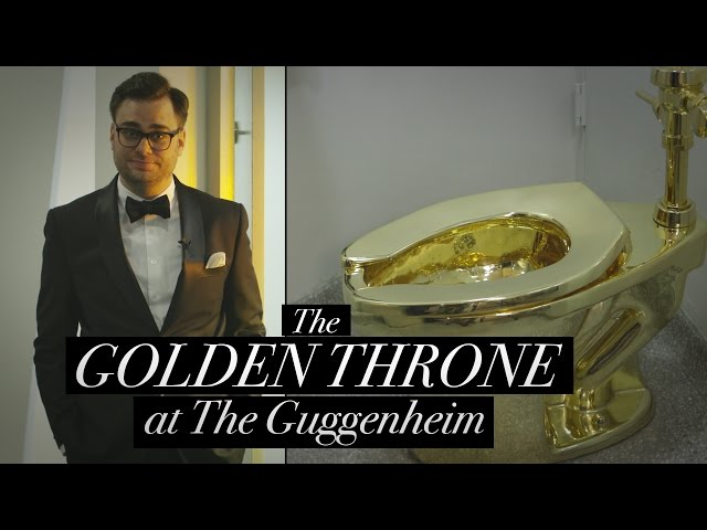 The Golden Toilet at the Guggenheim