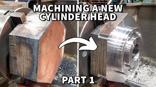 Machining a new Hydraulic Cylinder Head for CAT 651 Tractor Scraper | Part 1