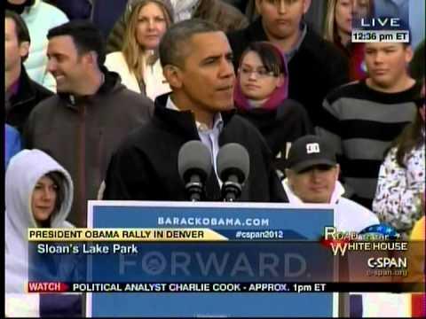 """Obama In Denver, CO: """"Export More Jobs"""""""