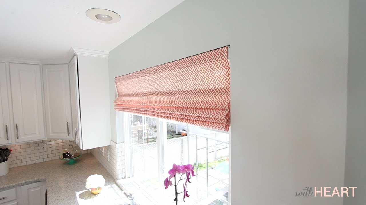 Diy Roman Shades Easy Diy Roman Shades From Blinds Withheart