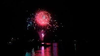 何年かぶりに花火を見ました。