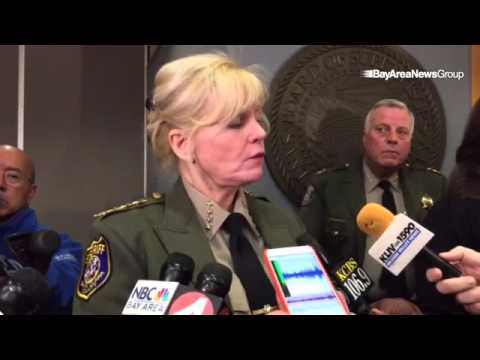 Santa Clara County Sheriff, Laurie Smith,  talks to media following a press conference on reforms at
