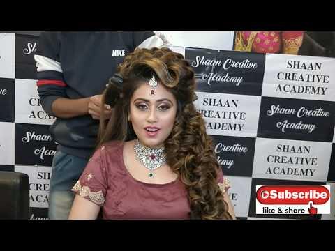 Wedding hairstyle tutorial || Shaan creative academy