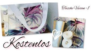 Schmuck Leder Tasche nähen - Vivian | Gurtband annähen | für Anfänger | Reisverschluss Innentasche