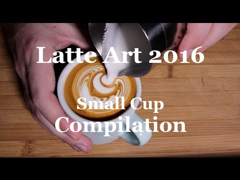 Coffeefusion Latte Art 2016 - Small Cup Compilation!