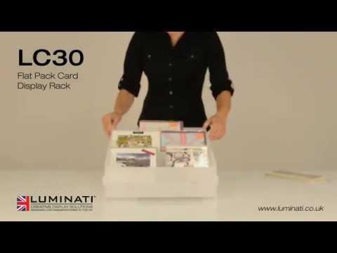 Flat Pack Card Display Rack - Luminati Ltd